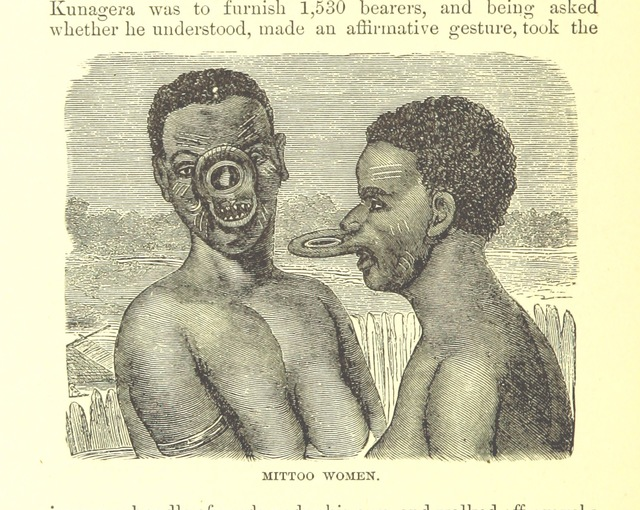 """portrait from """"Africa: the history of exploration and adventure, as given in the leading authorities from Herodotus to Livingstone. ... With ... illustrations"""""""