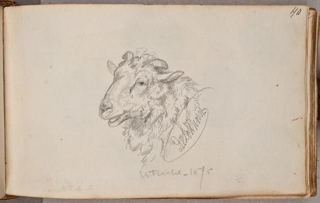 Schets: schaap / door D[irk] van Lokhorst (1818-1893)