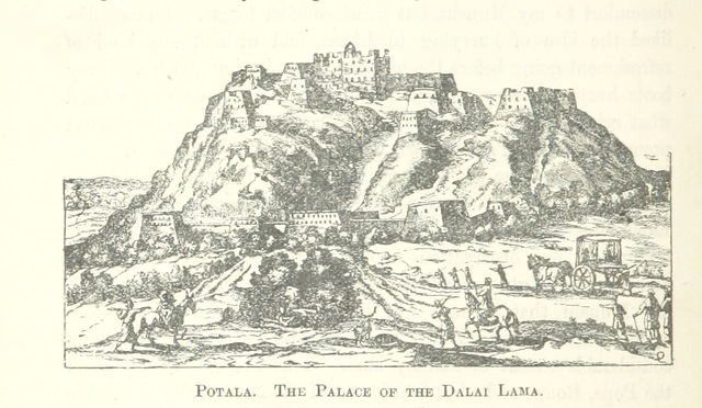 "Lhasa from ""Narratives of the Mission of George Bogle to Tibet, and of the Journey of Thomas Manning to Lhasa. Edited, with notes, an introduction, and lives of Mr. Bogle and Mr. Manning, by Clements R. Markham. [With plates and maps.]"""