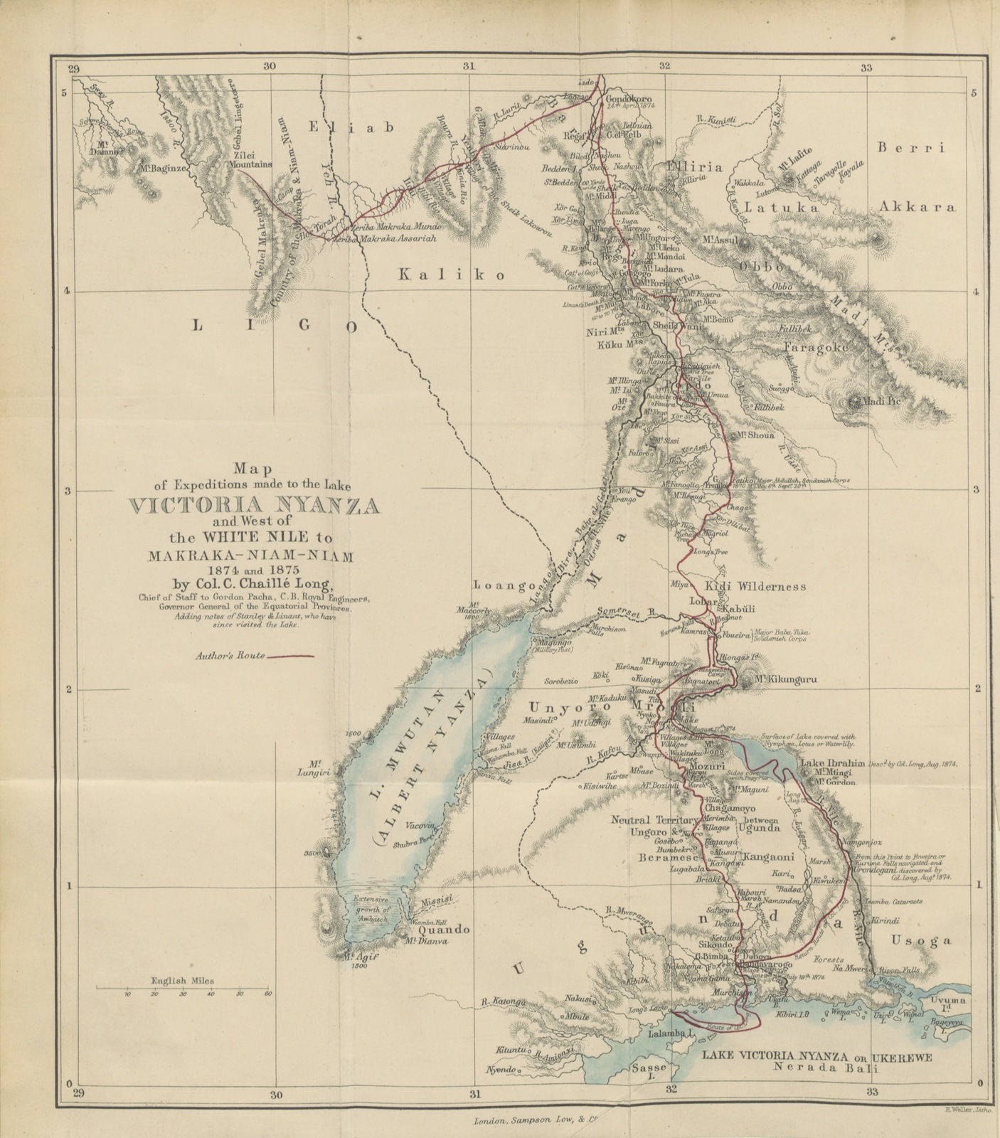 Map Of Africa Lake Victoria.Map From Central Africa Naked Truths Of Naked People An Account