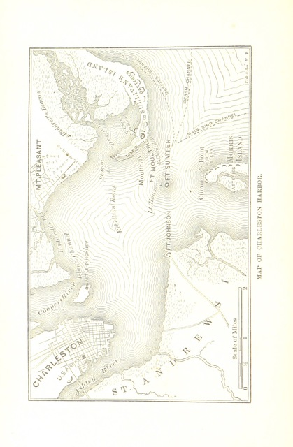 "map from ""Reminiscences of Forts Sumter and Moultrie in 1860-'61"""
