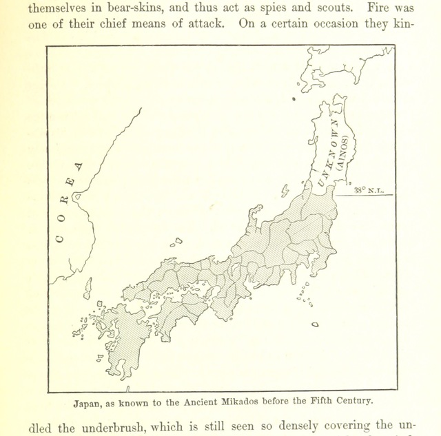 """map from """"The Mikado's Empire. Book I. History of Japan, from 660 B.C to 1872, A.D. Book II. Personal experiences, observations, and studies in Japan, 1870-1874"""""""