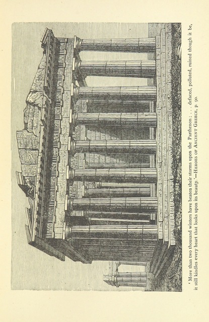 """Parthenon from """"Heroes of Ancient Greece: a story of the days of Socrates, the Athenian"""""""