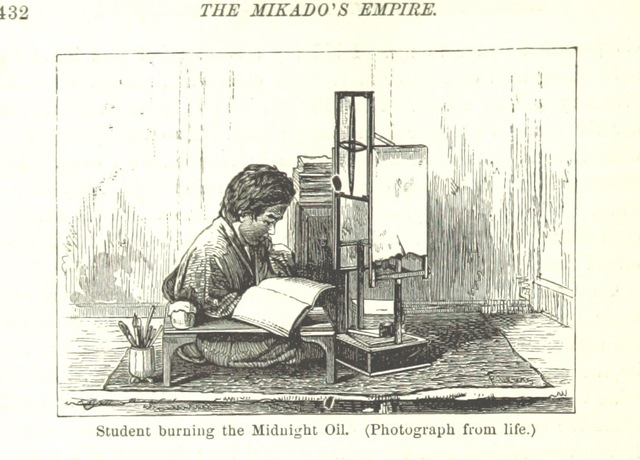 """Studying from """"The Mikado's Empire. Book I. History of Japan, from 660 B.C to 1872, A.D. Book II. Personal experiences, observations, and studies in Japan, 1870-1874"""""""
