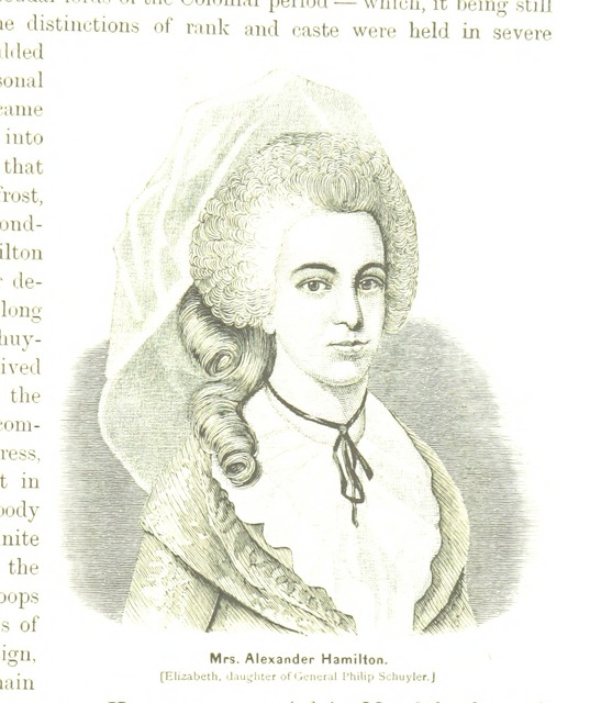 """Elizabeth Schuyler Hamilton from """"History of the City of New York: its origin, rise and progress. [With illustrations.]"""""""