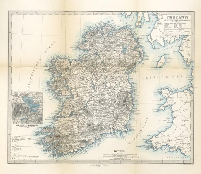 """map from """"Aus Irland. Reiseskizzen und Studien"""""""