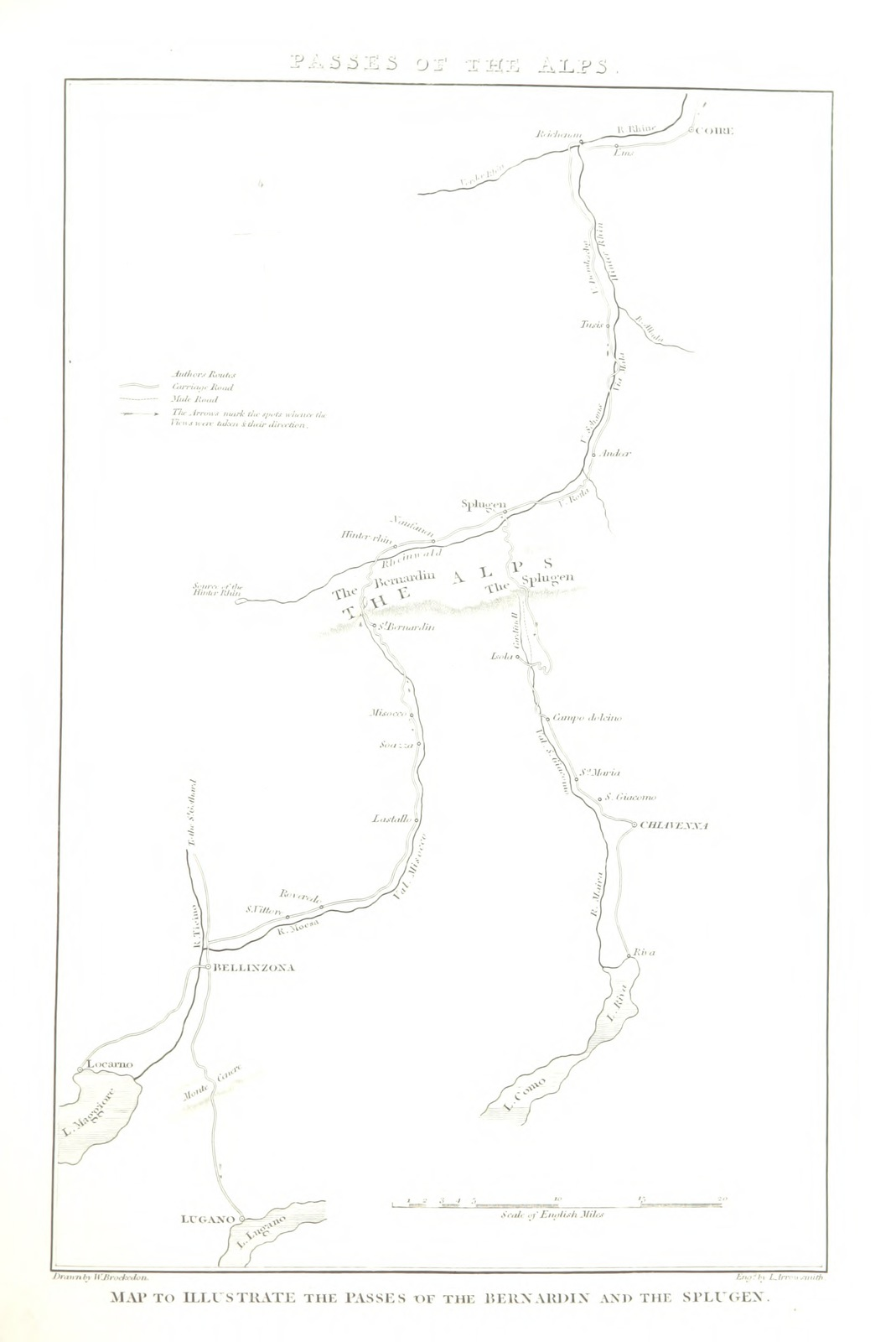 Map Of France Switzerland And Italy.Map From Illustrations Of The Passes Of The Alps By Which Italy