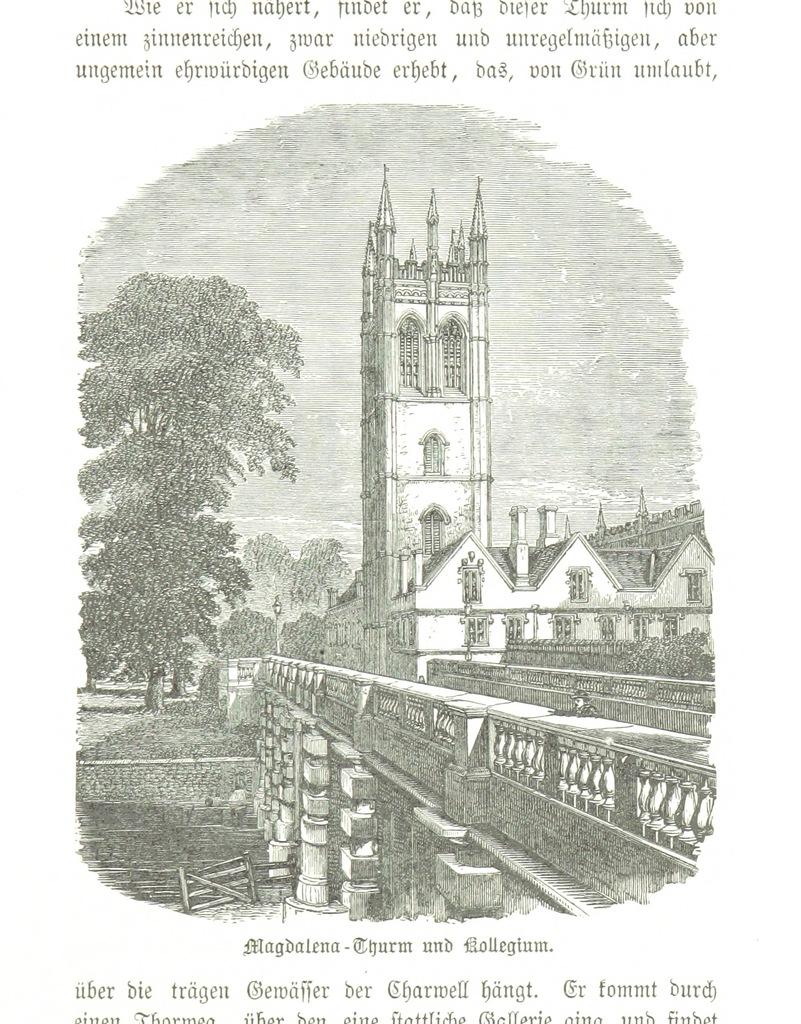"""River Cherwell from """"Zehn Bilder aus Süd-England oder: Wanderungen und Betrachtungen eines Katholiken, etc. [Illustrated.]"""""""