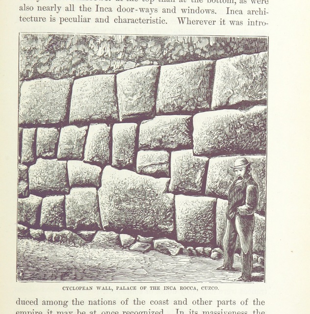 """stone from """"Peru: incidents of ravel and exploration in the Land of the Incas. ... With illustrations"""""""