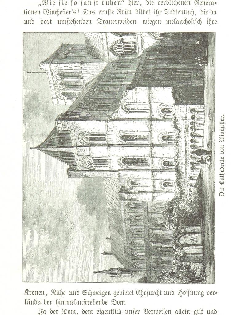 """Winchester Cathedral from """"Zehn Bilder aus Süd-England oder: Wanderungen und Betrachtungen eines Katholiken, etc. [Illustrated.]"""""""