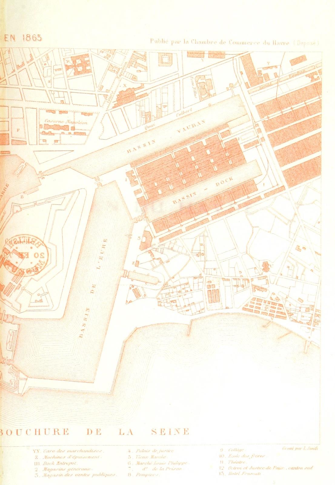 """map from """"Exposition Universelle de 1878. Chambre de Commerce du Havre. Le Havre en 1878"""""""