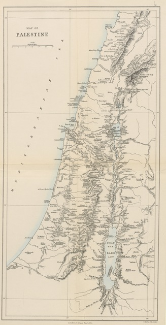 "map from ""Stirring Times, or, Records from Jerusalem Consular Chronicles of 1853 to 1856. By ... J. F. ... Edited and compiled by his widow [E. A. Finn]. With a preface by the Viscountess Strangford"""