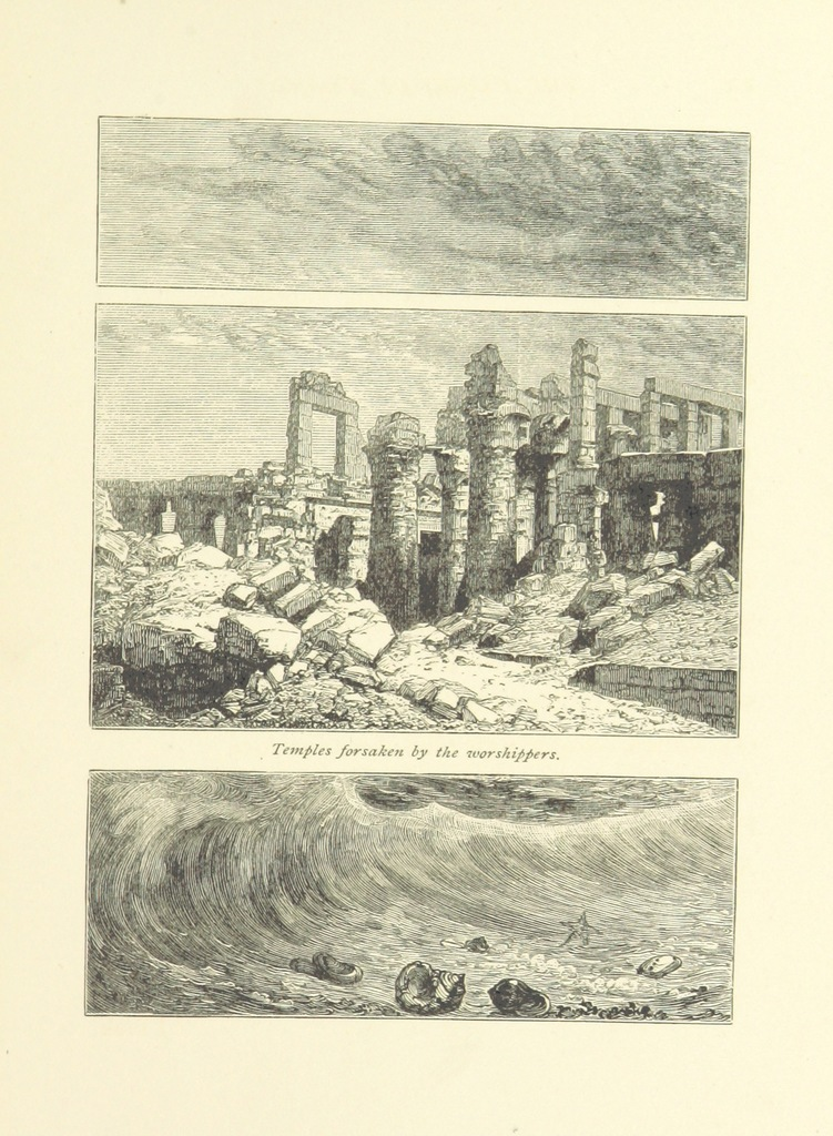 "Temples forsaken by the worshippers from ""The Flood of Years. [In verse.] (The illustrations designed and engraved by W. J. Linton.)"""