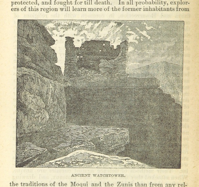 """watchtower from """"The Hand-book to Arizona: its resources, history ... and scenery. ... Illustrated. Accompanied with a new map of the territory"""""""