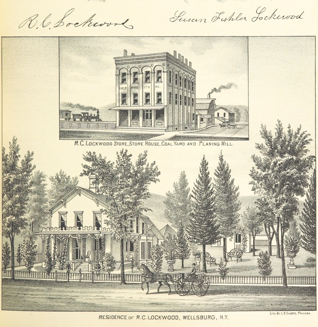 """architecture from """"History of Toga, Chemung, Tompkins, and Schuyler Counties, New York. With illustrations and biographical sketches of some of its prominent men and pioneers"""""""
