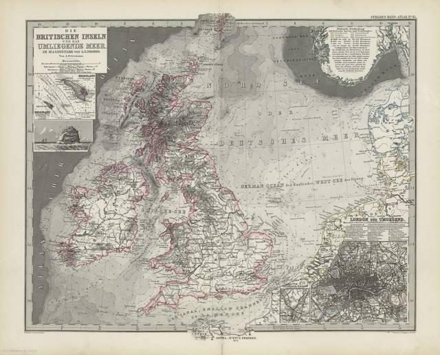 Britischen Inseln und das Umliegende Meer im maassstabe von 1:3700000 die : [generalkarte]