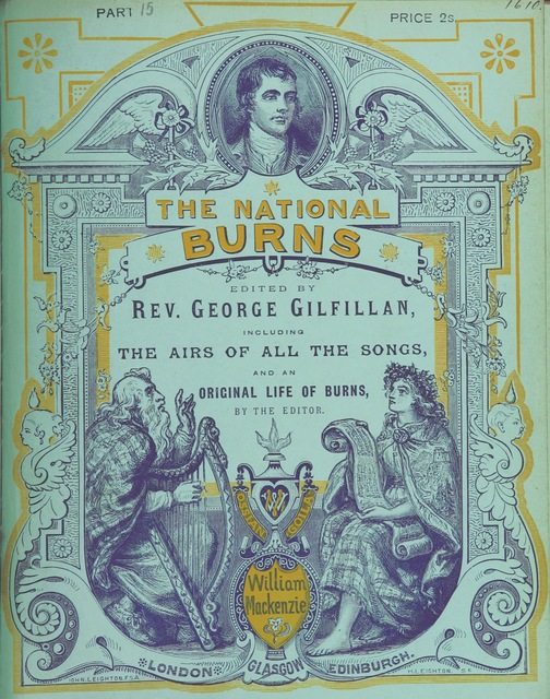 """harpist from """"The National Burns. Edited by Rev. George Gilfillan, including the airs of all the songs, and an original life of Burns by the editor. [With plates, including portraits.]"""""""
