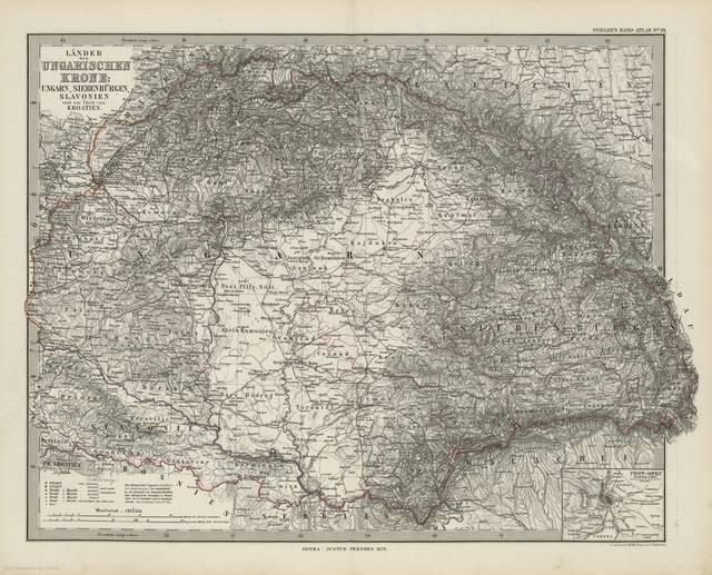 Länder der Ungarischen Krohe : Ungarn, Siebenbürgen, Slavonien und ein Theil von Kroatien : [generalkarte]