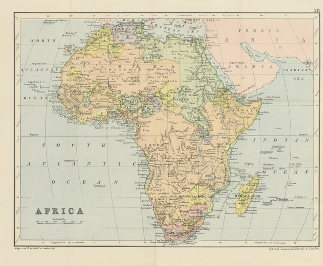 """map from """"Africa: past and present. A concise account of the country, its history, ... customs ... and Christian Missions. By an old resident. With ... illustrations"""""""