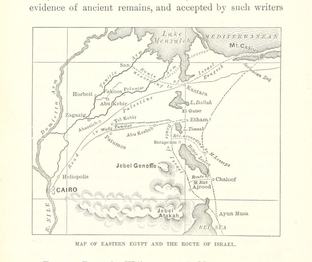 """map from """"From Egypt to Palestine through Sinai, the Wilderness and the South Country. Observations of a journey made with special reference to the history of the Israelites ... With maps and illustrations"""""""