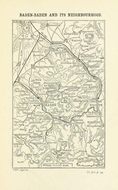 """map from """"The Black Forest, its people and legends. [With maps and illustrations.]"""""""