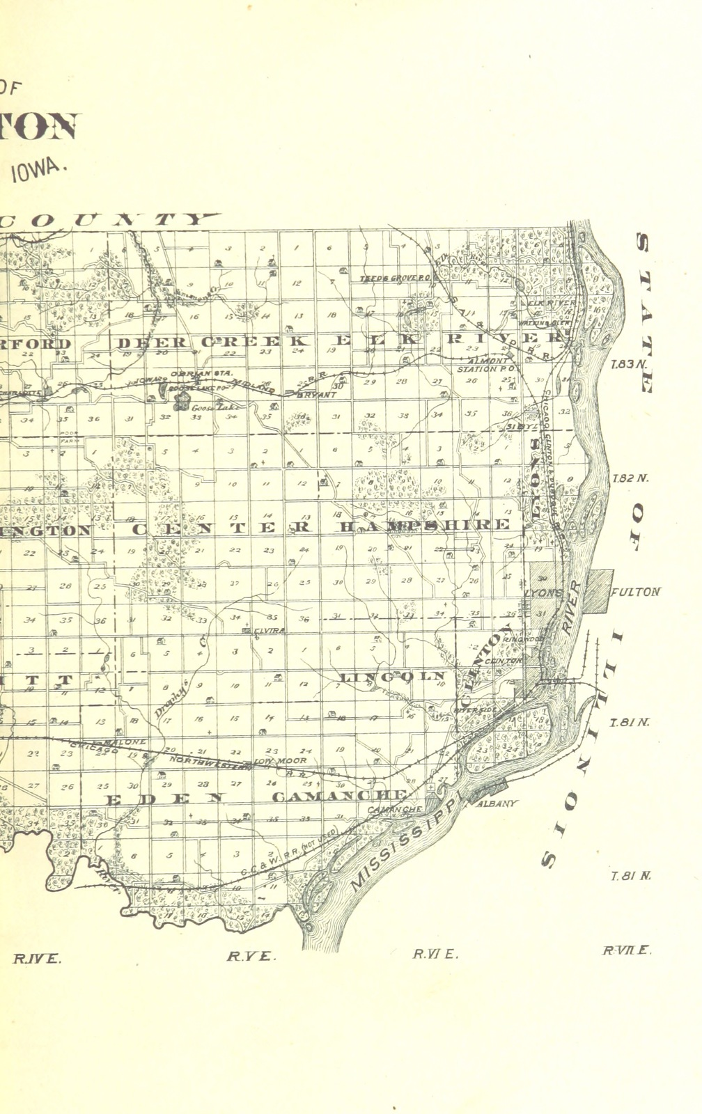 Map From The History Of Clinton County Iowa Illustrated Picryl