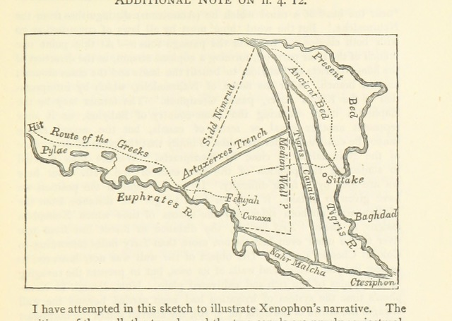 """map from """"Xenophon's Anabasis of Cyrus. ... With ... notes ... by R. W. Taylor. Gr"""""""