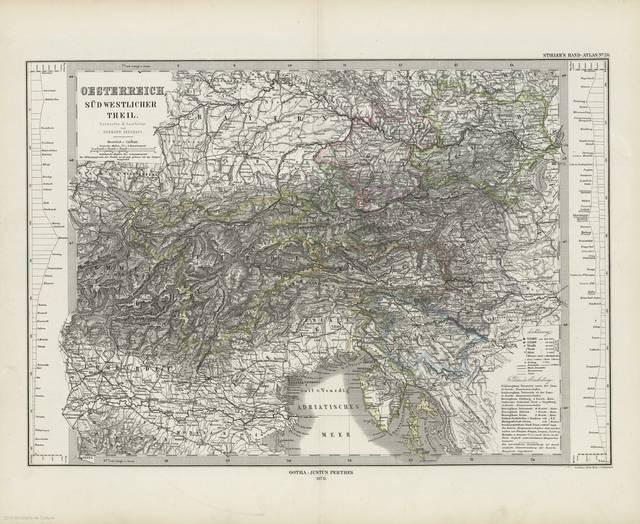 Oesterreich, süd westlicher theil : [generalkarte]
