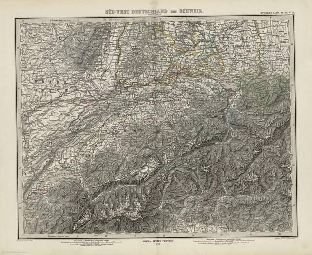 Süd-west Deutschland und Schweir : sudlicher Theil : [generalkarte]