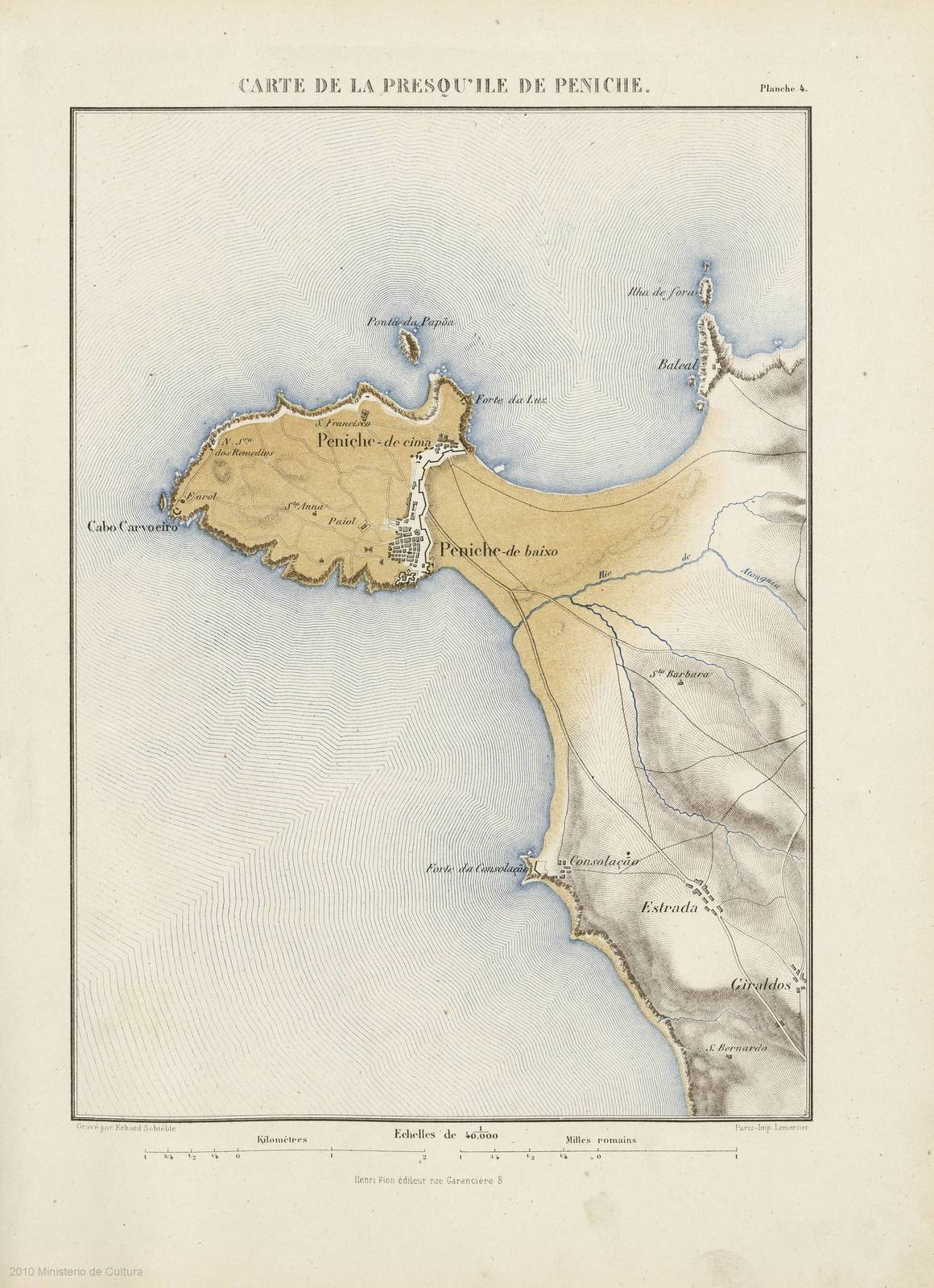 Carte De Linde Avec Le Gange.Carte De La Presqu Ile De Peniche Picryl