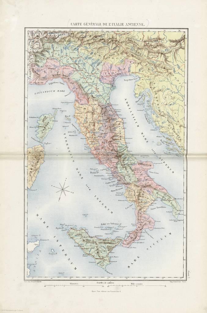 Carte Générale de L'Italie Ancienne