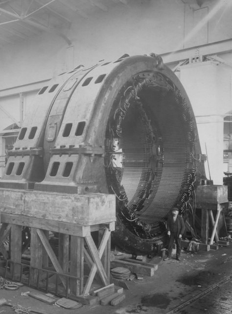 Stator for Rjukan power station.