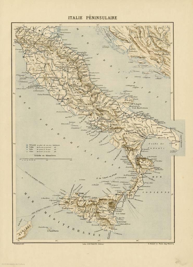 Italie Péninsulaire : [carte]