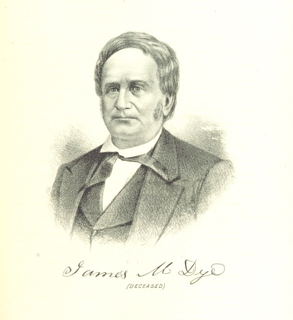 """James M. Dye from """"The history of Miami County, Ohio ... Illustrated"""""""