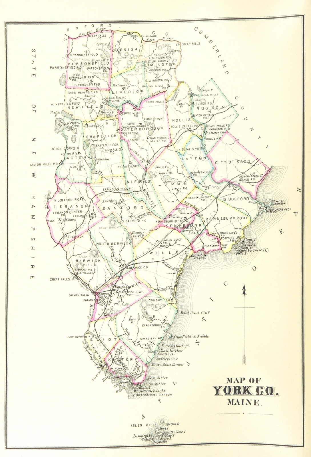 Map From History Of York County Maine With Illustrations And