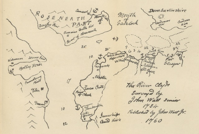 """map from """"Notes about Gourock, chiefly historical ... Special edition, illustrated, etc"""""""
