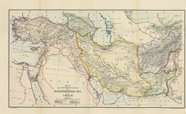 """map from """"Our Future Highway [i.e. the Euphrates Valley]"""""""