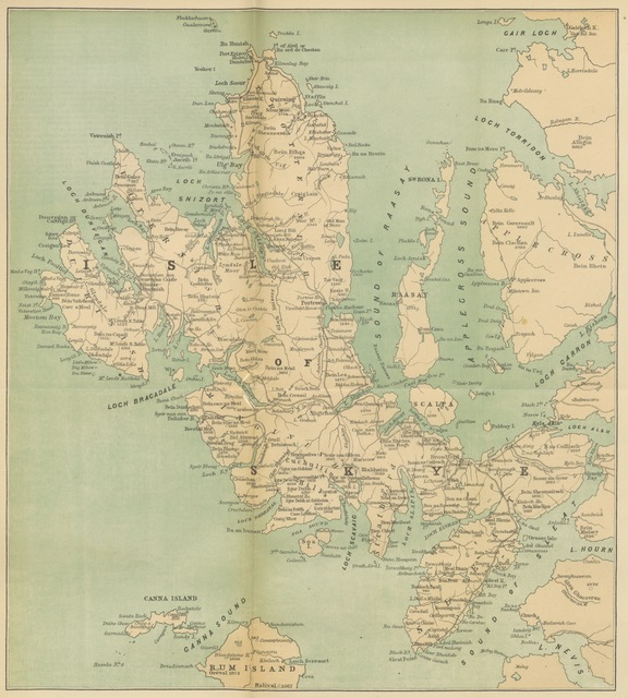 "map from ""[The Tourist's Handy Guide to Scotland. With new charts and illustrations.]"""