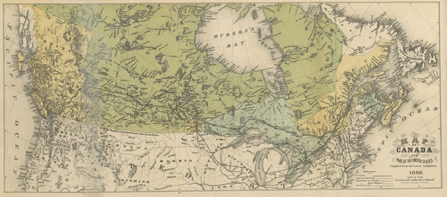 "map from ""The West and North-West. Notes of a holiday trip ... Reliable information for immigrants, with maps, etc"""