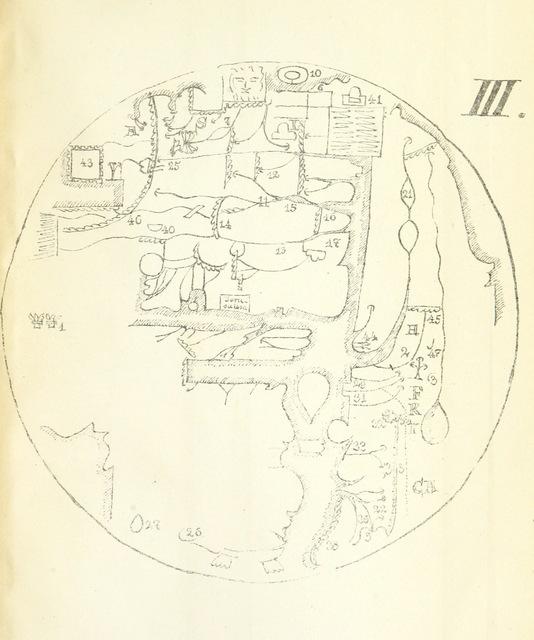 """map from """"Zur Reconstruction der Weltkarte des Agrippa ... Mit ... Kartenskizzen"""""""