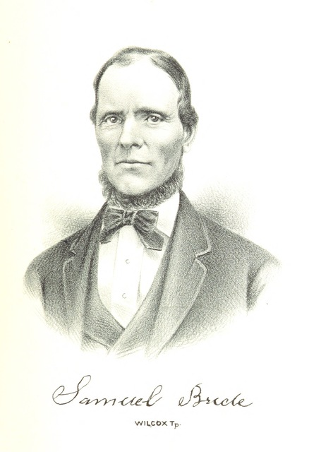 """portrait from """"History of Hancock County, Illinois, together with an outline history of the State, and a digest of State Laws"""""""