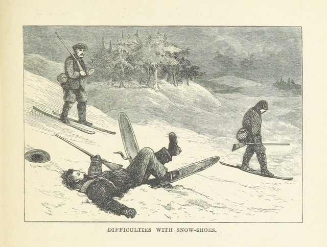 """skis from """"Siberia in Europe: a visit to the Valley of the Petchora in North-East Russia; with descriptions of the natural history, migration of birds, etc. With map and illustrations"""""""