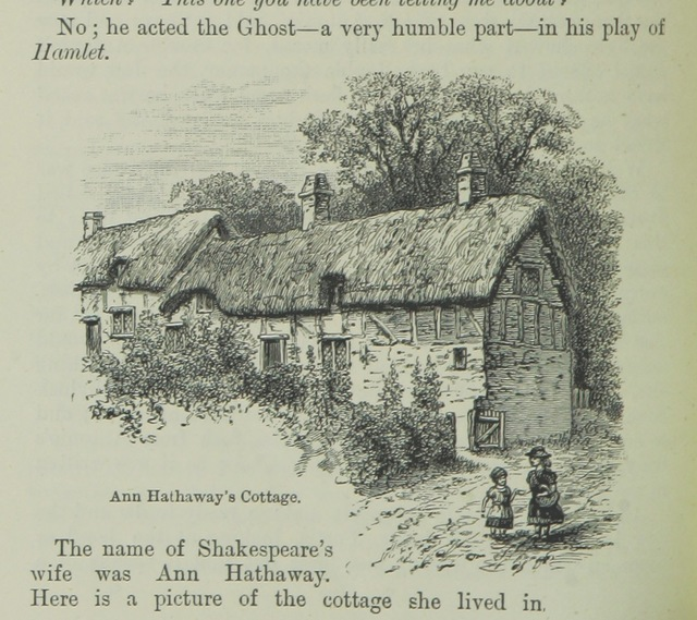 "Anne Hathaway's cottage from ""Great Britain for Little Britons. A book for children, etc"""