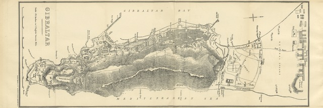 """map from """"A Popular History of Gibraltar ... Second edition, with revised directory-April 1881"""""""