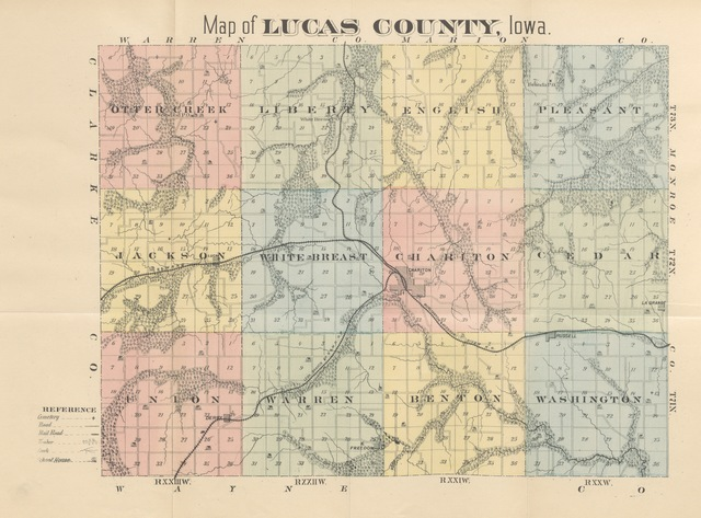 """map from """"History of Lucas County, Iowa ... Illustrated"""""""