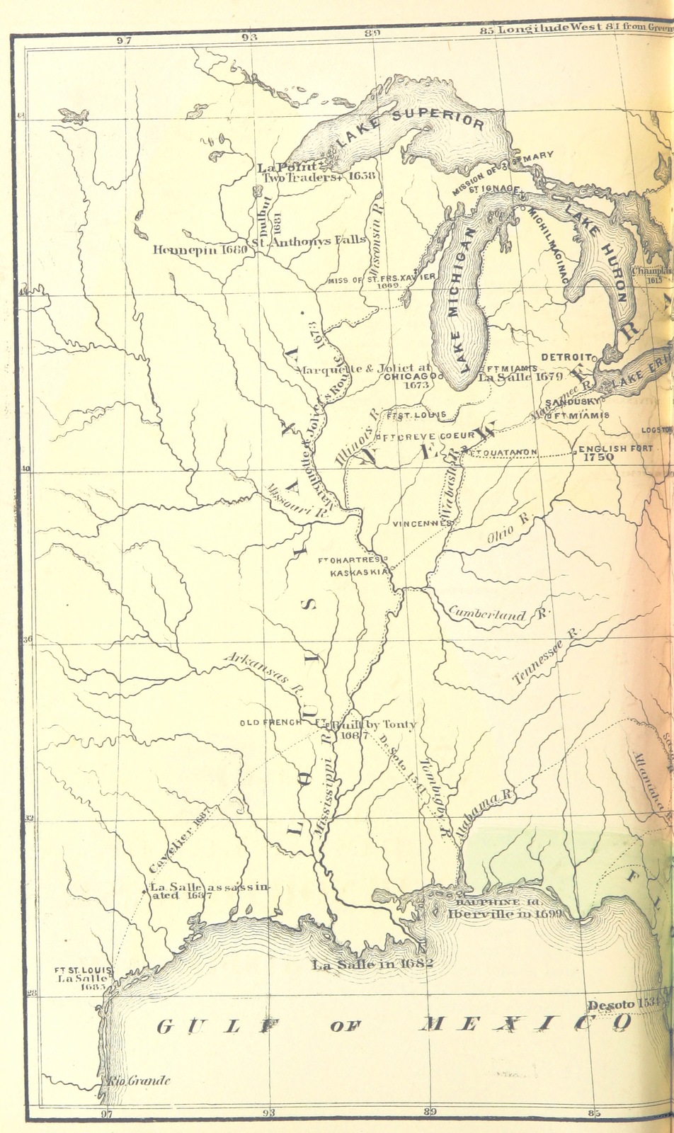 Northwest Chicago Map.Map From The Discovery And Conquests Of The Northwest Including
