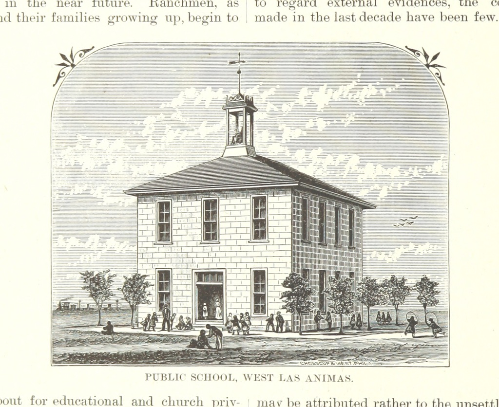 "public school from ""History of Arkansas Valley, Colorado. [By W. B. Vickers and others.] Illustrated"""