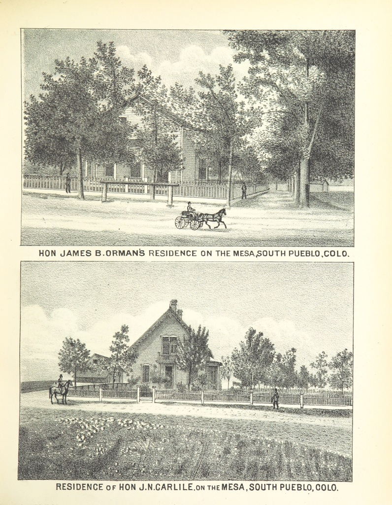 """South Pueblo from """"History of Arkansas Valley, Colorado. [By W. B. Vickers and others.] Illustrated"""""""