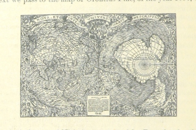 """world from """"Inventio fortunata. Arctic exploration. With an account of Nicholas of Lynn. Read before the American Geographical Society ... May 15th, 1880. Reprinted from the Bulletin of the Society"""""""