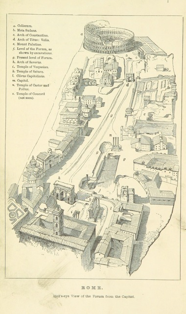 "Aerial view from ""[The Student's Rome. A History of Rome ... Illustrated ... New edition, ... revised.]"""